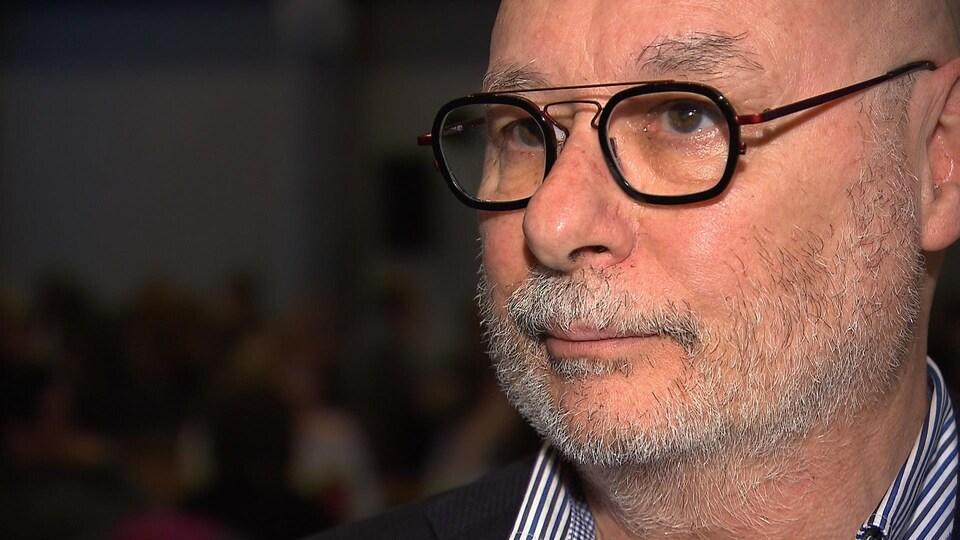 Le président-directeur général du CISSS de la Côte-Nord, Marc Fortin, accorde une entrevue à Radio-Canada.