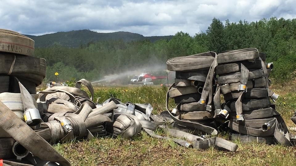 La SOPFEU tente toujours de maîtriser l'incendie de Labrieville.
