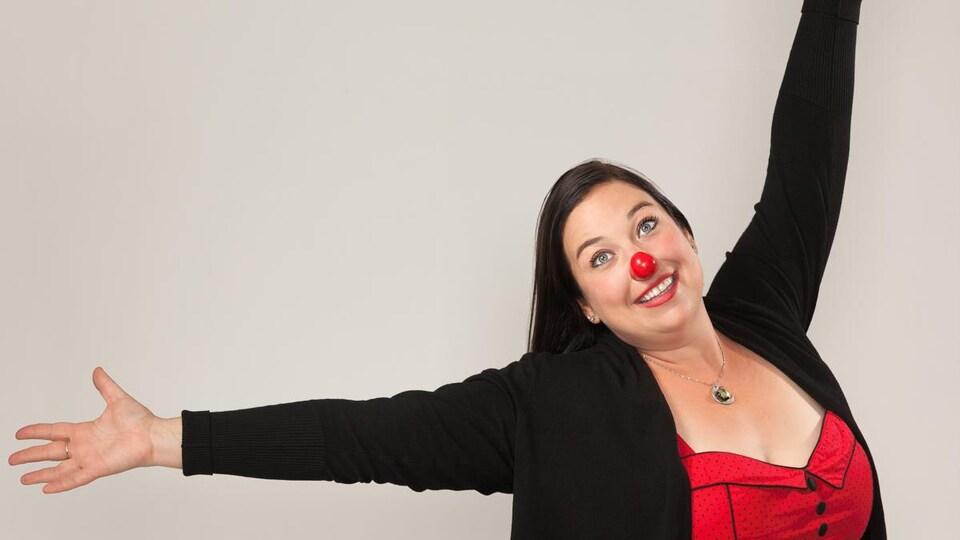 L'humoriste Isabelle Cliche.