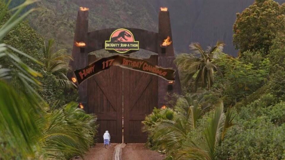 Portes du parc Jurassique modifiées pour Die-Nasty