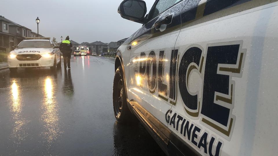 Une voiture du Service de police de la Ville de Gatineau.