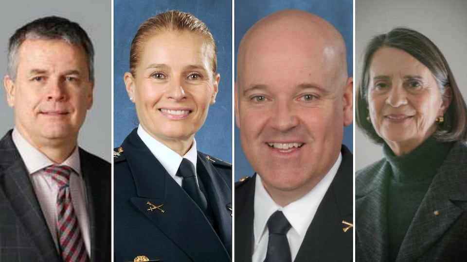 De gauche à droite : Sylvain Caron, Simonetta Barth, Dominic Harvey et Line Carbonneau
