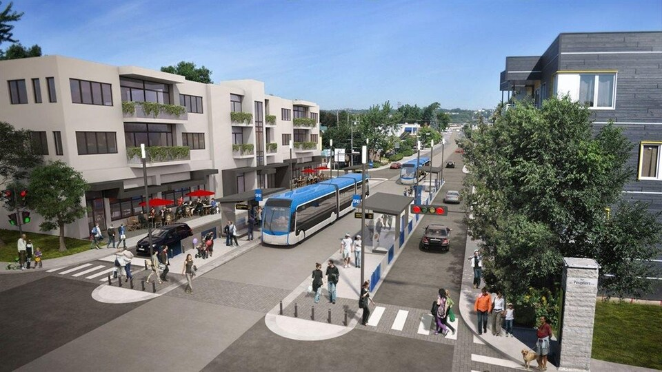 Le parcours du SRB s'étendra sur 43 km entre Québec et Lévis.