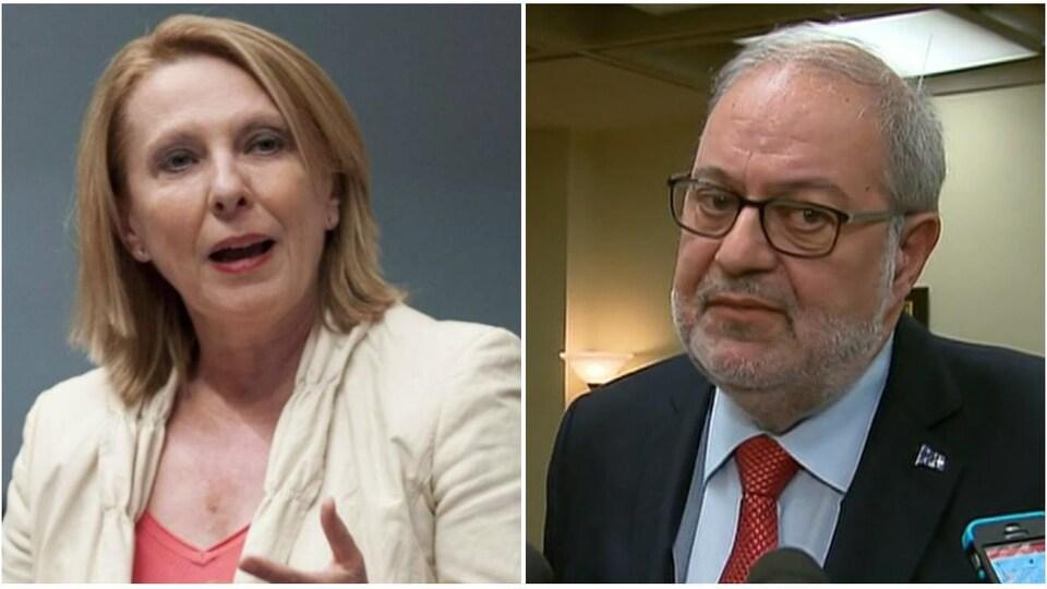 Christine St-Pierre et Pierre Arcand