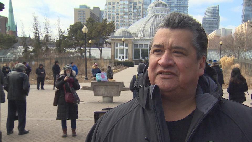 Stacey Laforme, chef de la Première Nation des Mississaugas de New Credit.