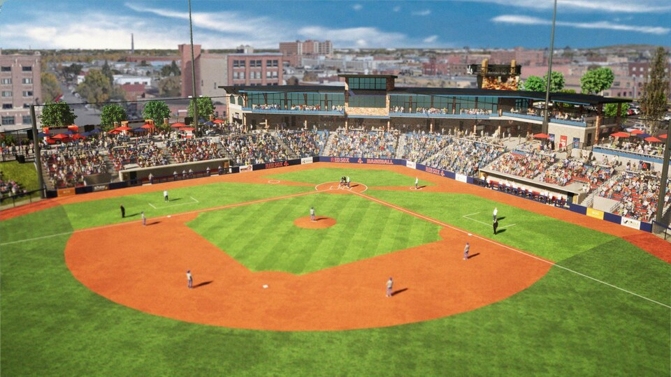 Un projet de stade de baseball.