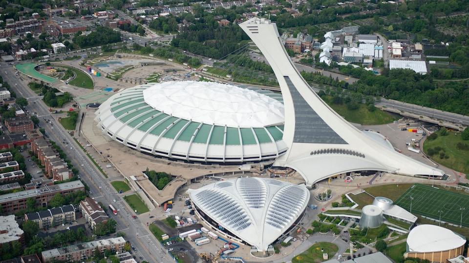 Vue aérienne du stade olympique.