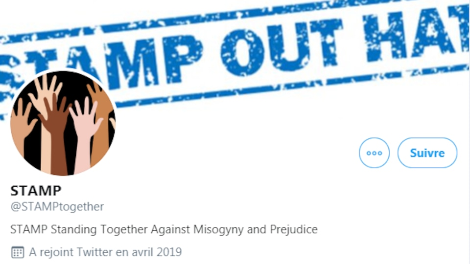 Standing Together Against Misogyny and Prejudice (STAMP) a rejoint Twitter en avril 2019.