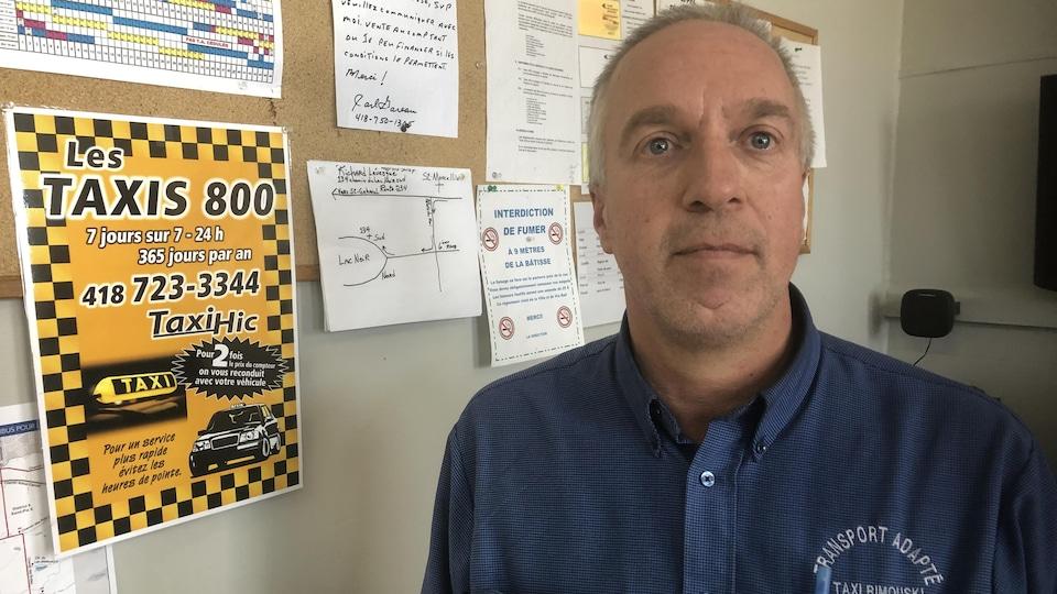 Stéphane Dionne est l'un des directeurs de Taxi 800 et craint de voir fondre son fonds de pension avec le projet de loi 17 du ministre Bonnardel.