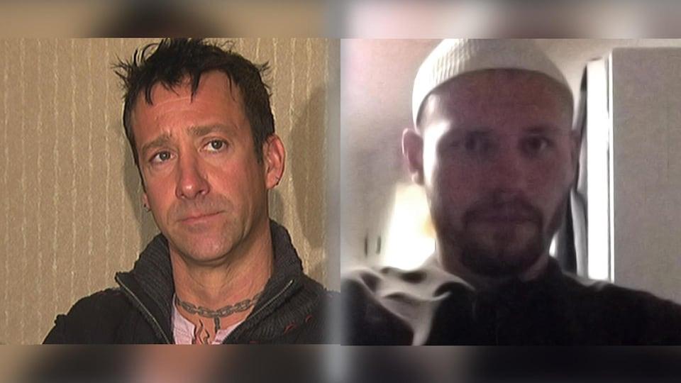 Les visages de Steve Lamy et de Jean-Christophe Gilbert.