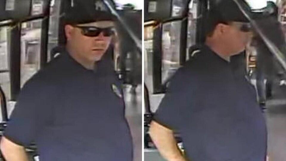 Photos d'un suspect.