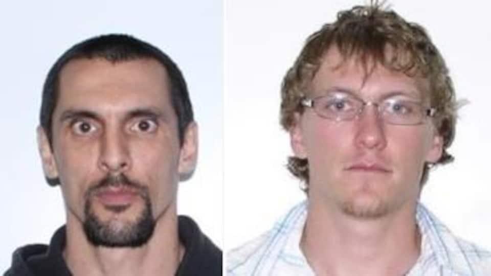 Les photos d'identité judiciaire de deux suspects.