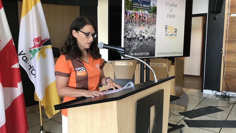 Suzanne Fortin, présidente du Tour de l'Abitibi.