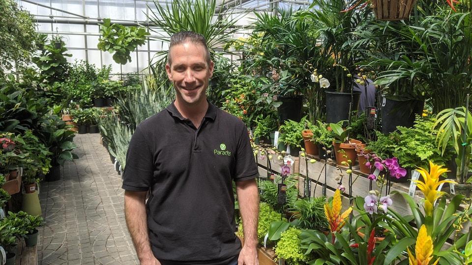 Sylvain Paradis, vice-président de Paradis Jardins et Accessoires à Québec.