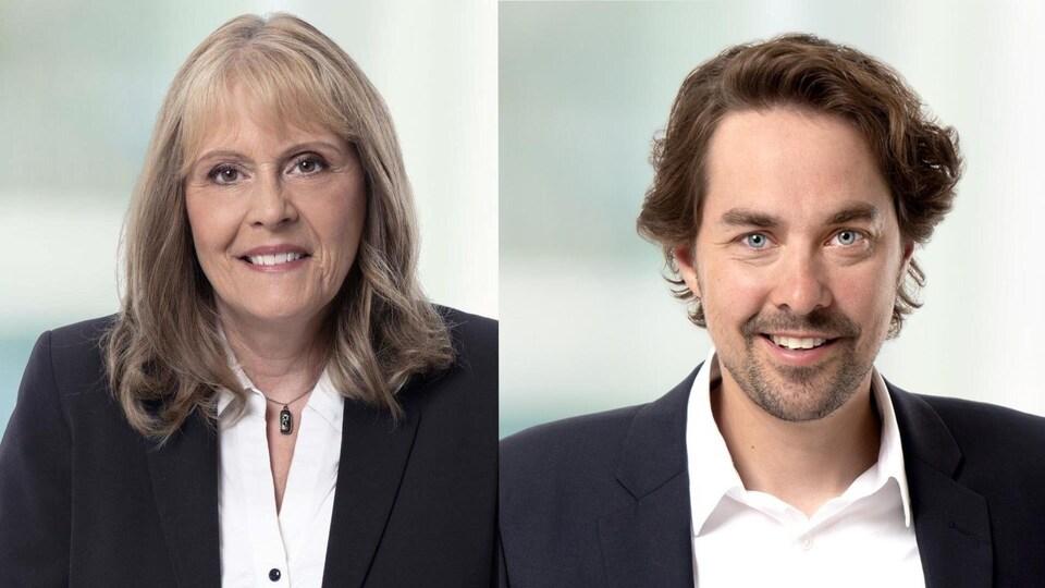 Un montage des photos officielles de Sylvie Bérubé et Sébastien Lemire.