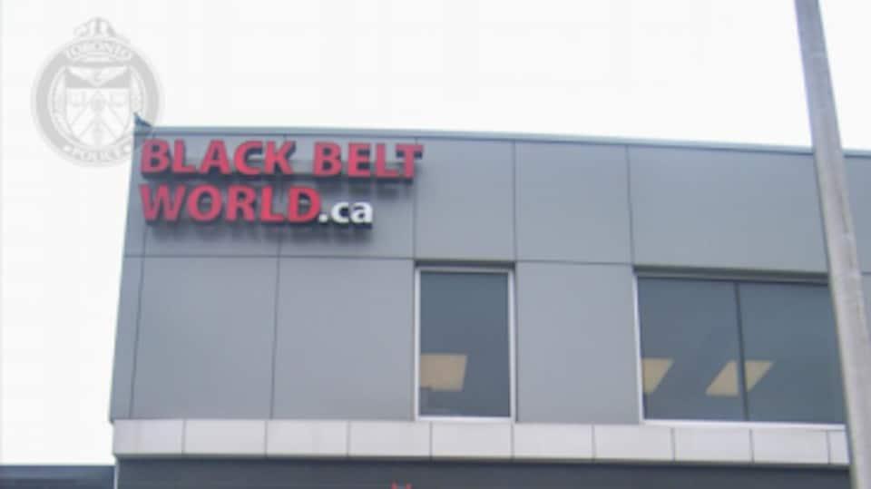 Une photo judiciaire du centre de taekwondo de Toronto.