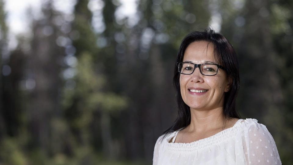 La cheffe de la communauté autochtone de Lac La Ronge, Tammy Cook-Searson.