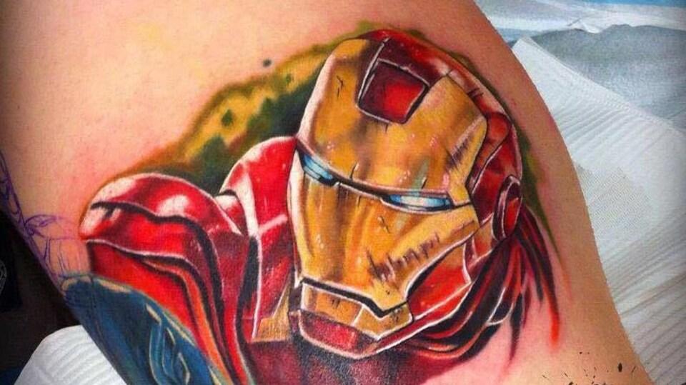 Un tatouage d'Iron Man