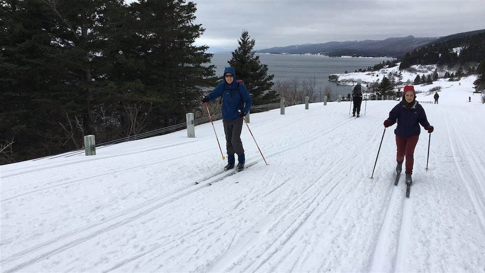 Les participants de la TDLG découvrent le parc Forillon en hiver