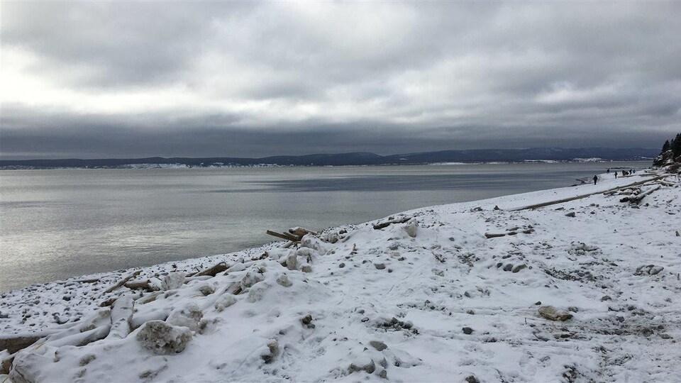 Les participants de la TDLG ont droit à une première journée sous un temps exceptionnement doux pour janvier et à une baie de Gaspé libre de glaces.