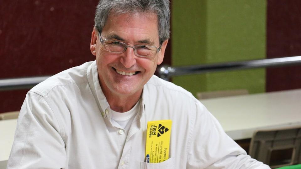 Claude Doherty, bénévole au 60e Téléthon Le Noël du Pauvre