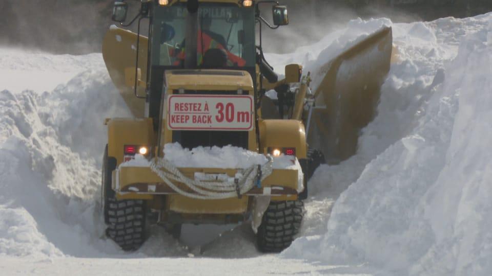 Quelque 40 centimètres de neige se sont accumulés en un peu plus d'une journée dans la Péninsule acadienne.
