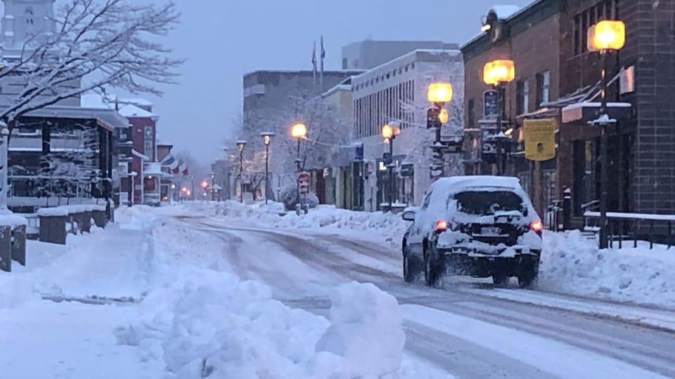 Rimouski sous la neige.
