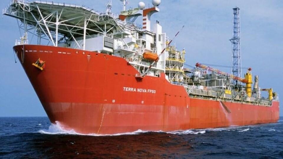 Le plateforme flottante Terra Nova, à 350 km au sud-est de Terre-Neuve.
