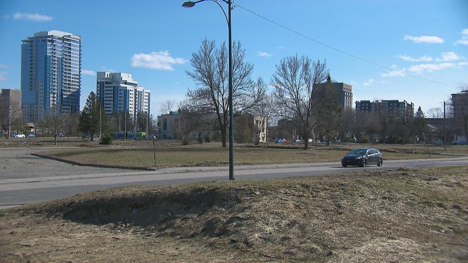 Les terrains vacants de la Défense nationale, à Sainte-Foy à Québec.