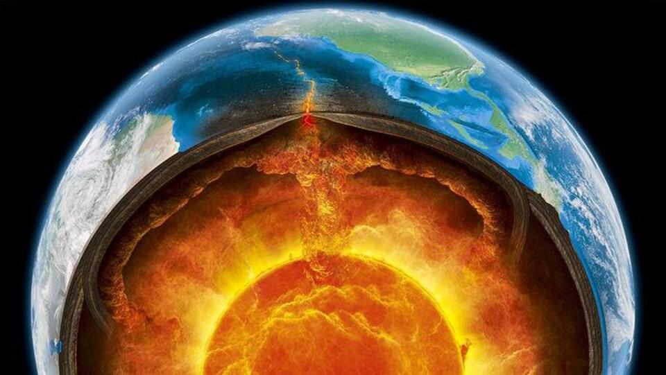 Représentation artistique de la composition de la Terre.