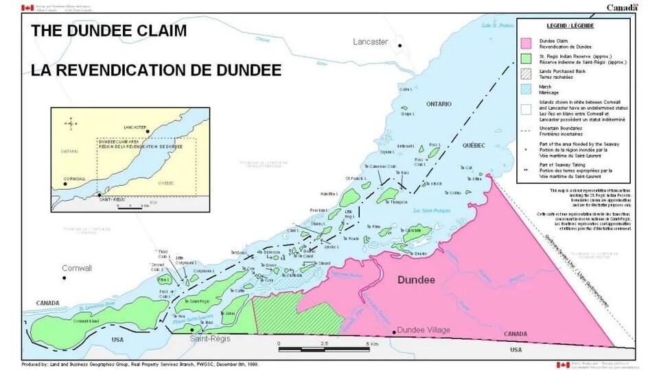 Une carte géographique des territoires concernés.