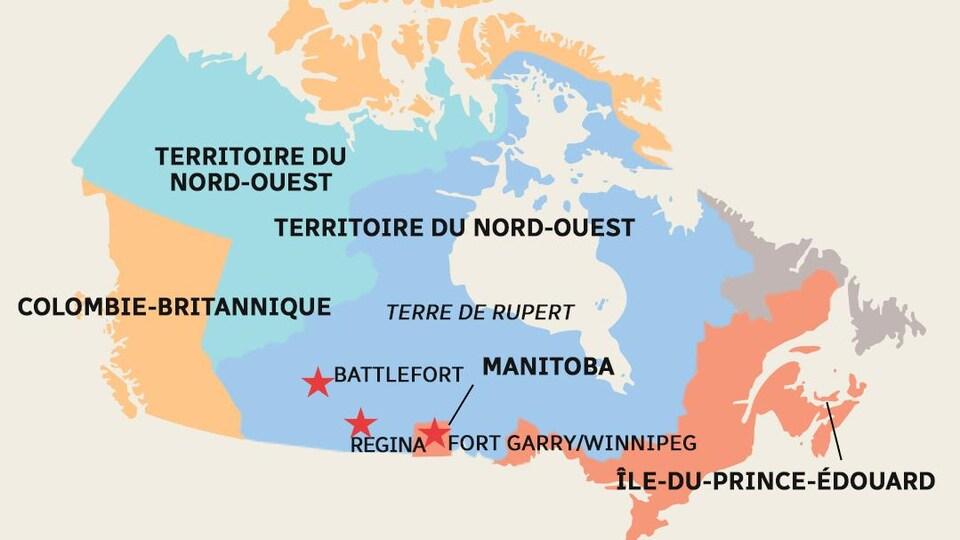 Carte des Territoires du Nord-Ouest