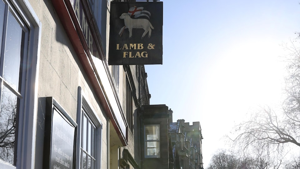 Le pub à Oxford.