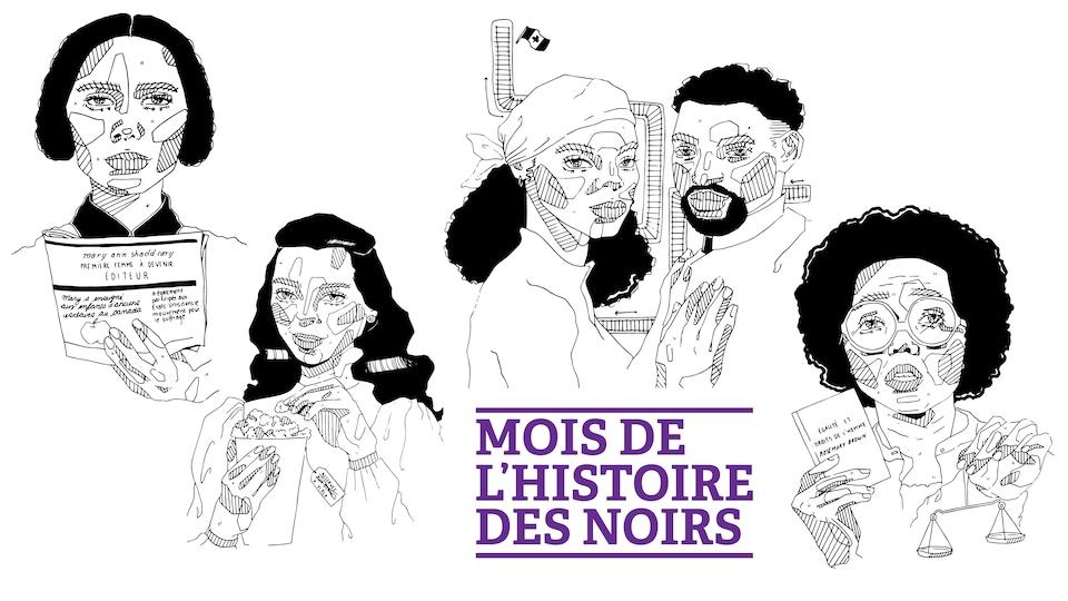 Les illustrations de femmes noires emblématiques de Thirsta Sémajuste.