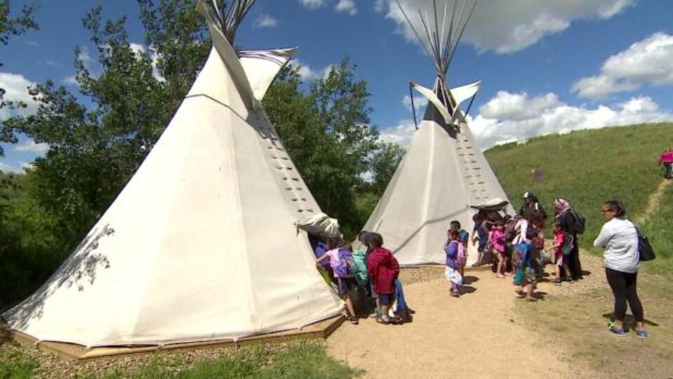 Le Parc historique national Wanuskewin, en Saskatchewan