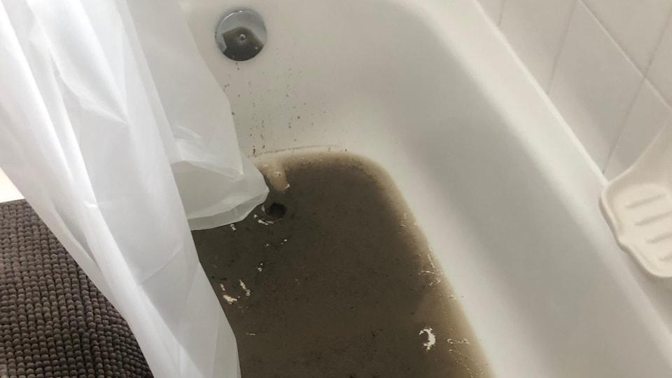 L'eau a refoulé de l'égout et a provoqué des dégâts importants