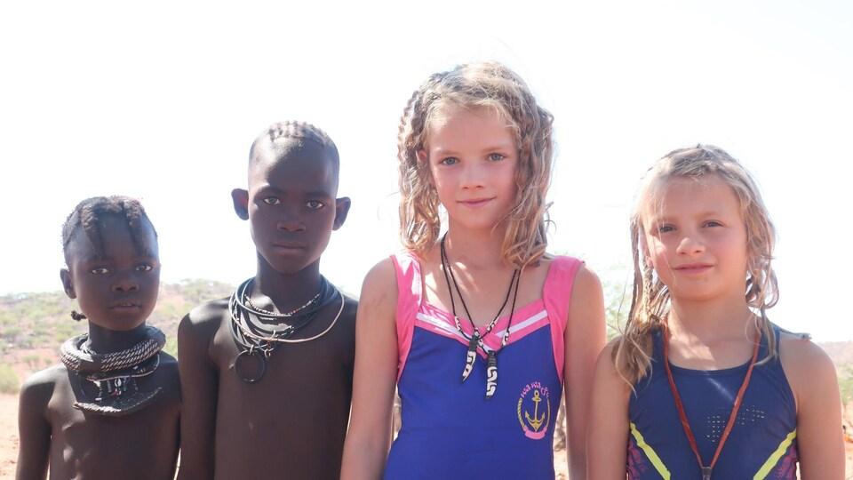 Une photo de voyage de la famille Cummings-Gallant, lors de leur tour du monde.