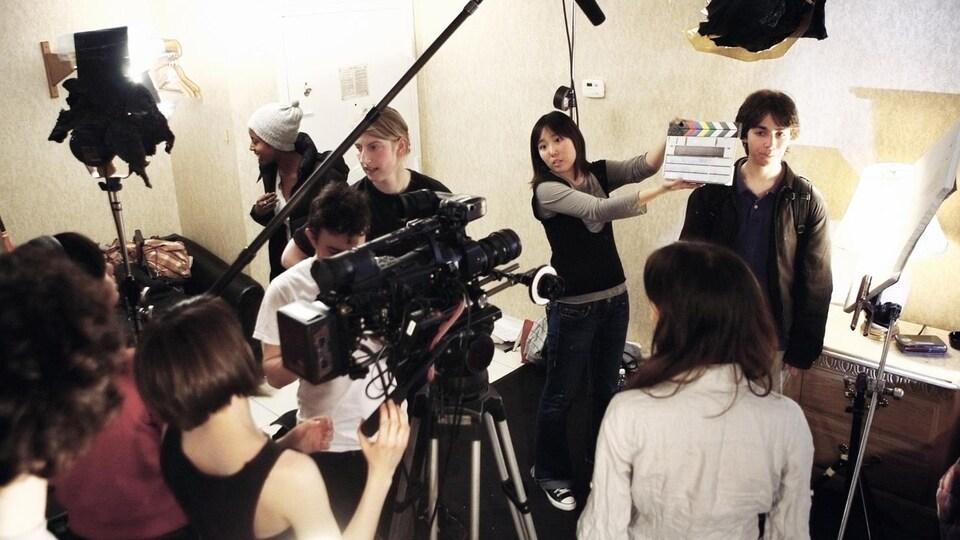 Un plateau de tournage (archives).