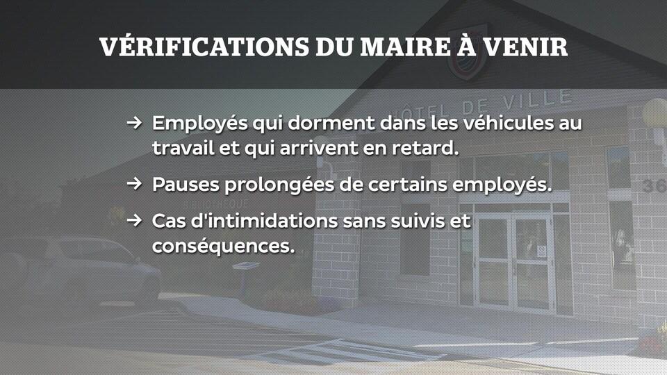 Vérifications du maire Denis Losier à Tracadie