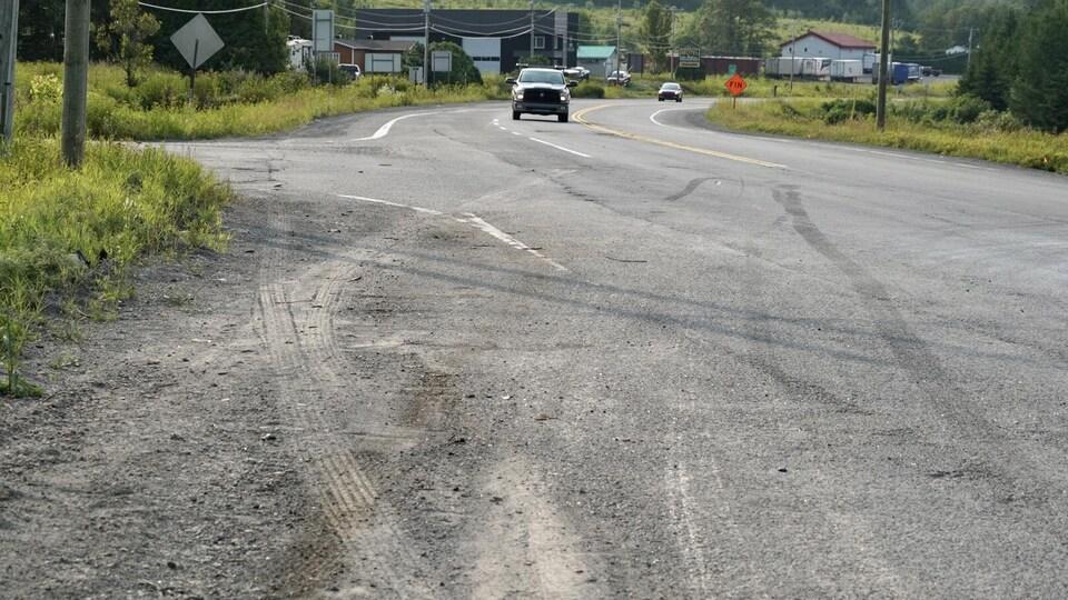 Les traces laissées par l'accident
