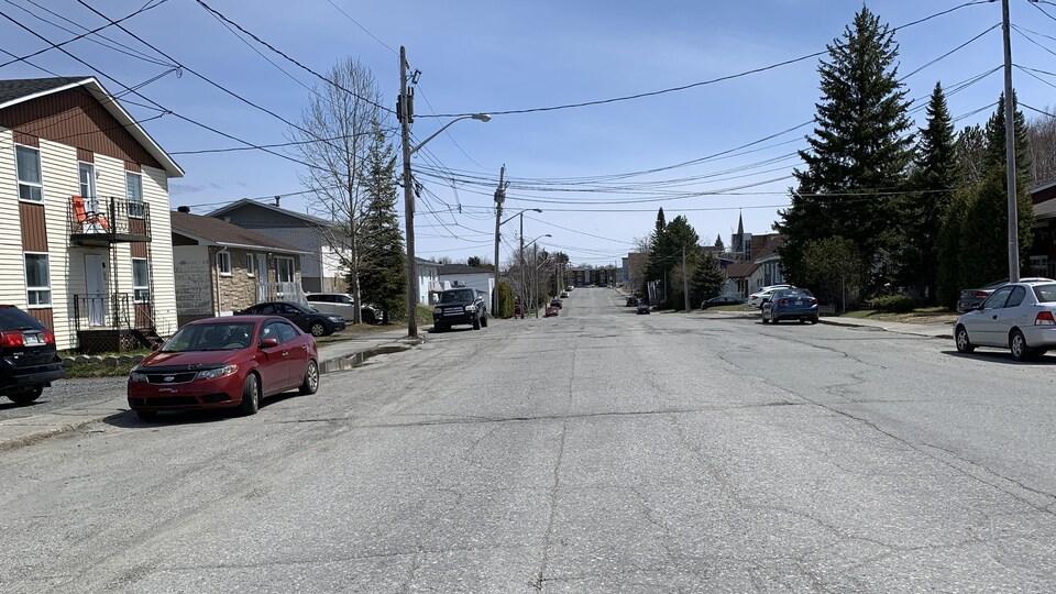 La rue des Oblats, à Rouyn-Noranda.