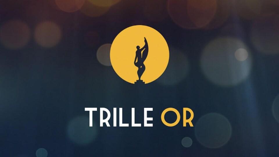 Le logo du prix Trille Or 2017 apparaît en jaune sur un fond bleu foncé.