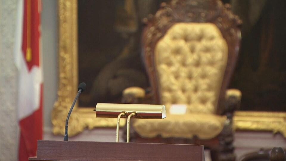 Le fauteuil du lieutenant-gouverneur.