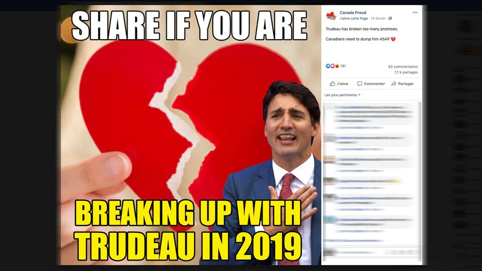 Une image tirée de la page Facebook de Canada Proud.