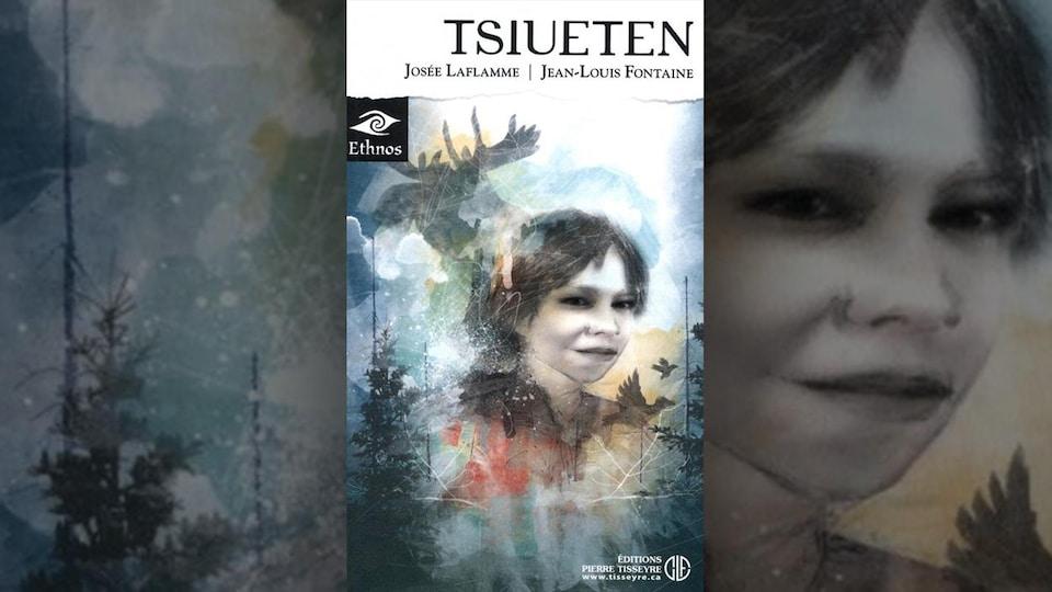 Une jeune fille est dessinée au milieu de la forêt.