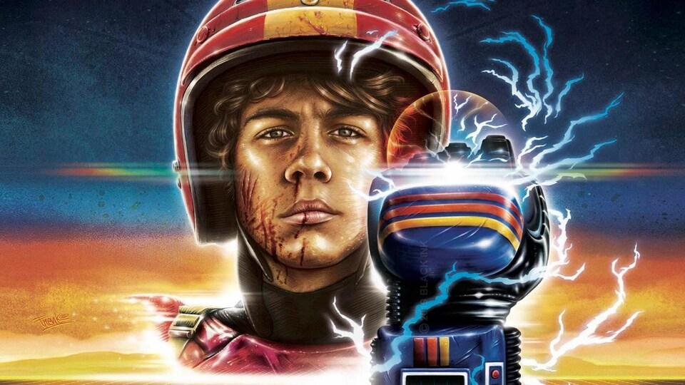 Détail de l'affiche du film Turbo Kid, dont la trame sonore est signée Le Matos.