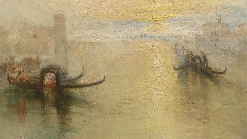Deux embarcations à Venise.