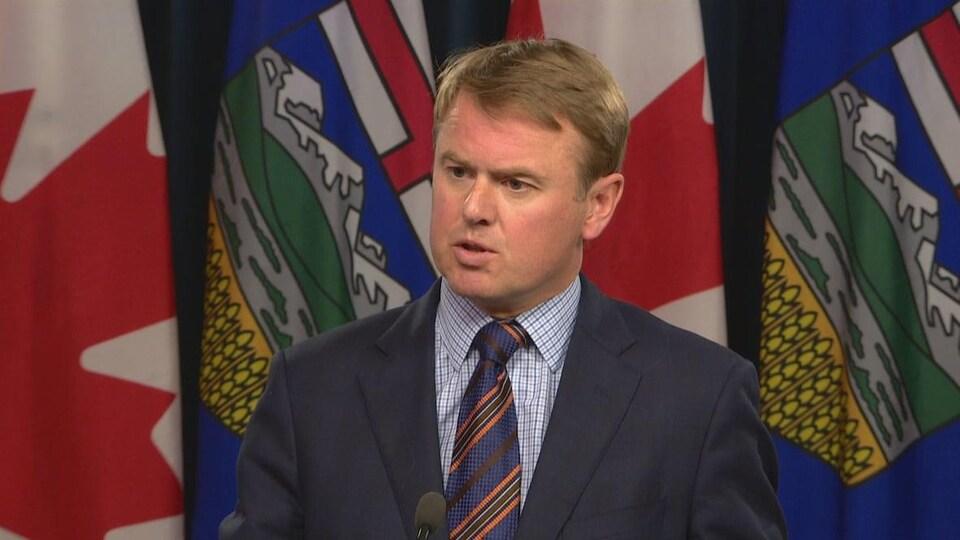 Tyler Shandro, le ministre albertain de la Santé.