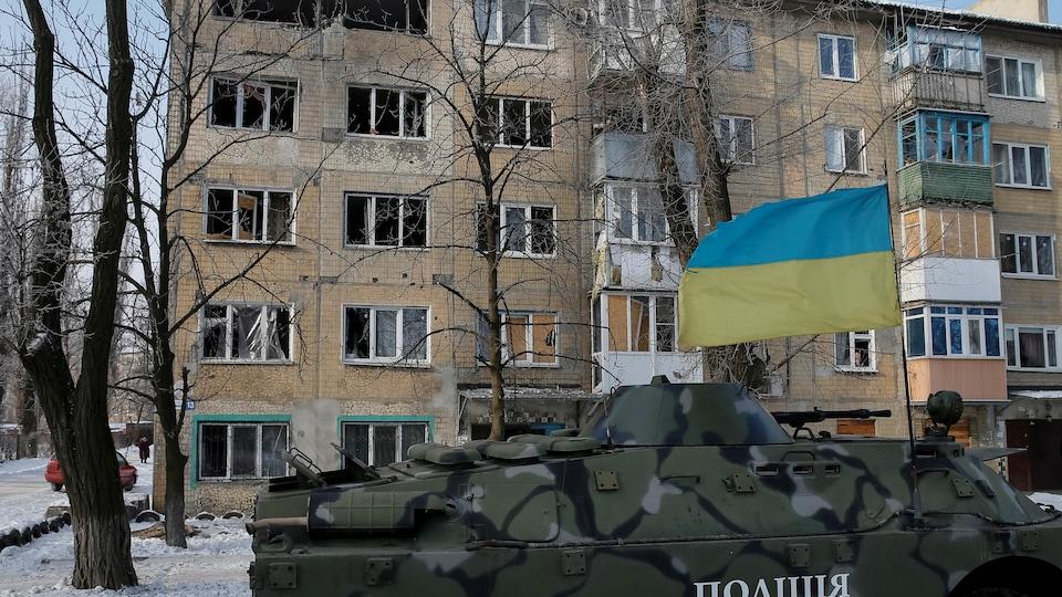 Des blindés de l'armée ukrainienne