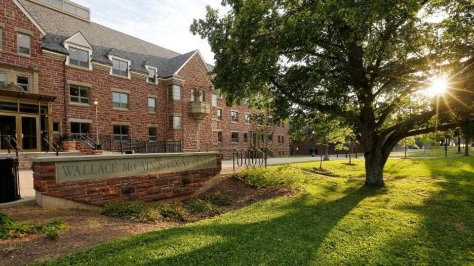 Le centre pour étudiants Wallace McCains, à l'Université Mount Allison à Sackville.